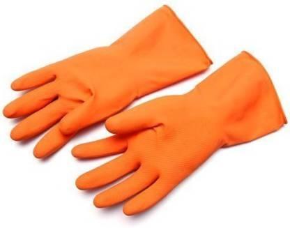 Rubber Hand Gloves - Orange